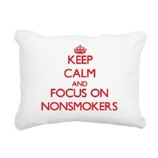 Unique Nonsmoker Rectangular Canvas Pillow
