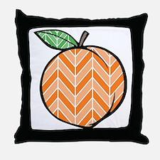 Chevron Peach Throw Pillow