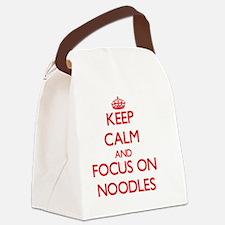 Cute Attic Canvas Lunch Bag