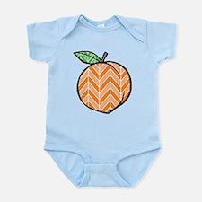 Chevron Peach Body Suit