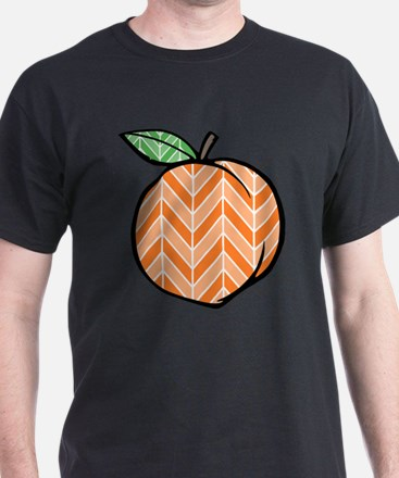 Chevron Peach T-Shirt
