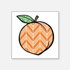 Chevron Peach Sticker