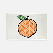 Chevron Peach Magnets