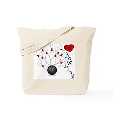 I Love Bowling Tote Bag
