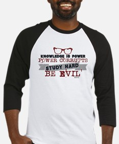 Study Hard Be Evil Baseball Jersey