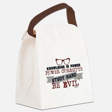 Study Hard Be Evil Canvas Lunch Bag