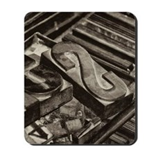 Wooden Block Letters Mousepad