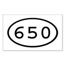 650 Oval Rectangle Decal