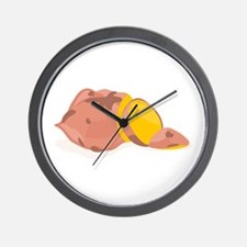 Yam Vegetable Wall Clock
