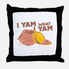 What I Yam Throw Pillow
