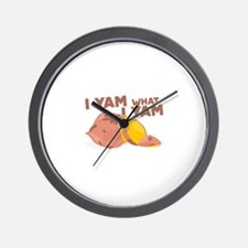 What I Yam Wall Clock