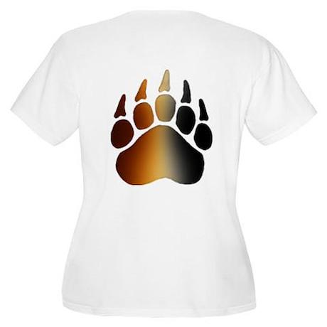 BEAR Paw 2 - Women's Plus Size Scoop Neck T-Shirt