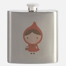Cute Little Red Riding Hood Girl Flask