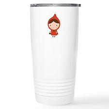 Cute Little Red Riding Hood Girl Travel Mug