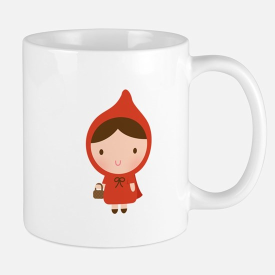 Cute Little Red Riding Hood Girl Mugs