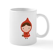 Cute Little Red Riding Hood Girl Mugs