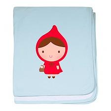 Cute Little Red Riding Hood Girl baby blanket