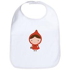 Cute Little Red Riding Hood Girl Bib