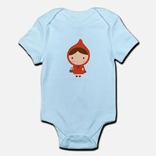 Cute Little Red Riding Hood Girl Body Suit