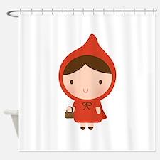 Cute Little Red Riding Hood Girl Shower Curtain