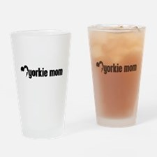 Yorkie Mom Drinking Glass