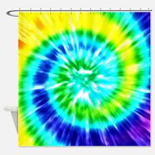 Rainbow Tie Dye Shower Curtain