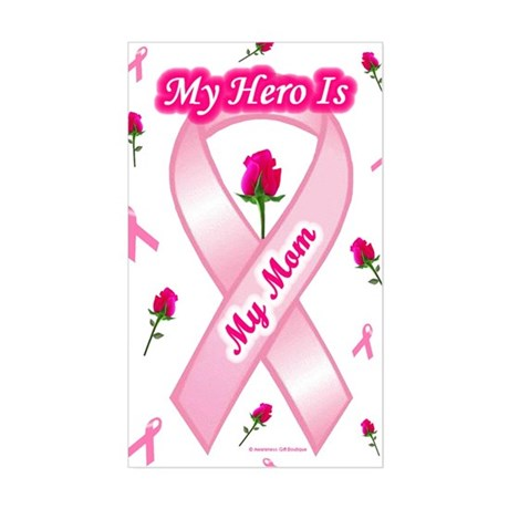 My Mom My Hero Rectangle Sticker
