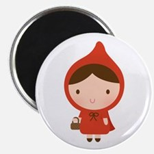 Cute Little Red Riding Hood Girl Magnets