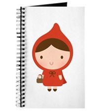 Cute Little Red Riding Hood Girl Journal