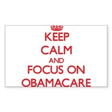 Keep Calm and focus on Obamacare Decal