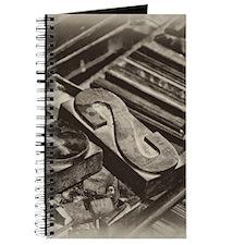 Wooden Block Letters Journal