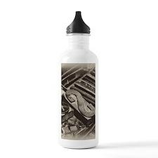 Wooden Block Letters Water Bottle