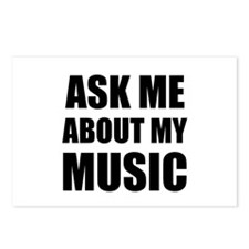 Ask me about my Music Postcards (Package of 8)
