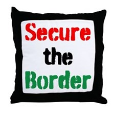 Secure the Border Throw Pillow