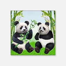 "LOVING PANDAS Square Sticker 3"" x 3"""
