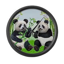 LOVING PANDAS Large Wall Clock