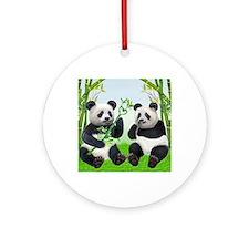 LOVING PANDAS Round Ornament