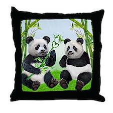 LOVING PANDAS Throw Pillow