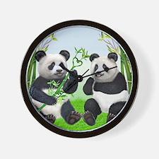 LOVING PANDAS Wall Clock