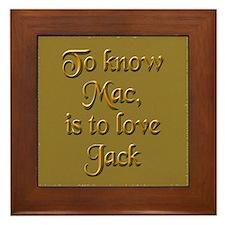 Mac/Jack Framed Tile