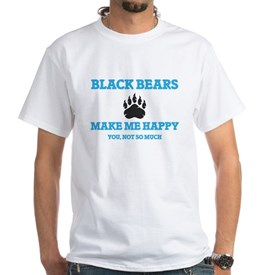 Black Bears Make Me Happy T-Shirt