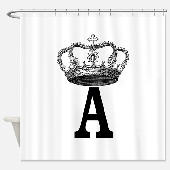 Royal Initial Shower Curtain