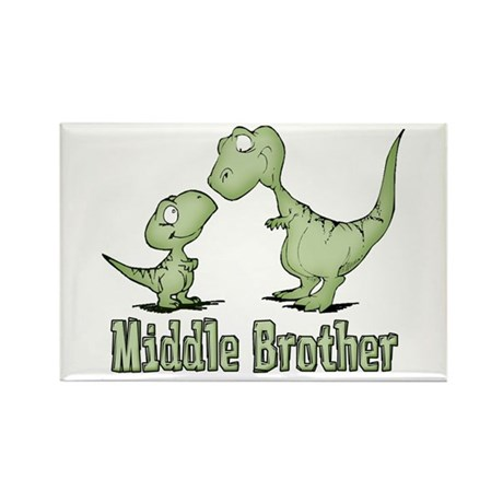 Dinosaurs Middle Brother Rectangle Magnet