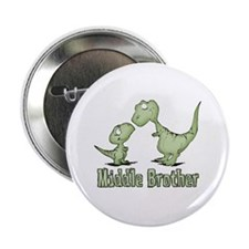 Dinosaurs Middle Brother Button