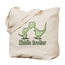 Dinosaurs Middle Brother Tote Bag