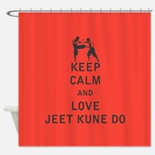 Keep Calm and Love Jeet Kune Do Shower Curtain