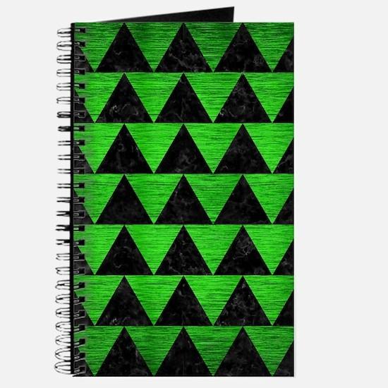 TRIANGLE2 BLACK MARBLE & GREEN BRUSHED MET Journal