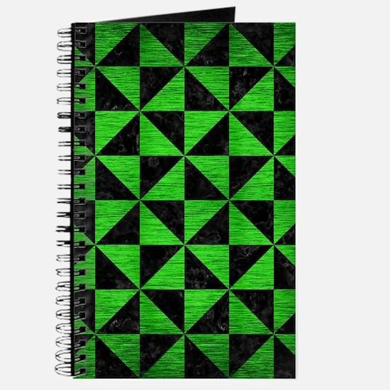TRIANGLE1 BLACK MARBLE & GREEN BRUSHED MET Journal
