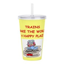 TRAINS.png Acrylic Double-wall Tumbler