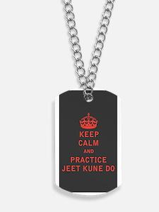 Keep Calm and Practice Jeet Kune Do Dog Tags